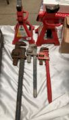 A pair of 3 ton jack stands,
