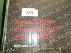 5 x recessed emergency exit signs