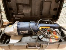 MacAllister MAG2000C 2000w angle grinder in case - 240v complete with 8 assorted discs