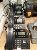 3 x Yealink HD T41S ultra-elegant IP phone model SIP-T41S telephone handsets and 1 x Grandstream