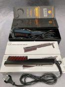 2 x CNXUS MCH heating ionic straightener brushes model MX-16998B and 2 x hair straightener brushes