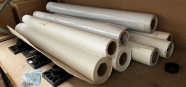7 x assorted part rolls of synthetic poster paper