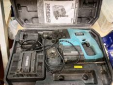 Erbauer 24v SDS plus hammer drill in case complete with 2 x batteries and charger
