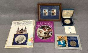Charles & Diana coin & stamp set
