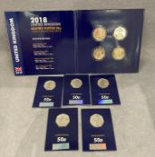 Collection of 50p coins including Beatrix potter set