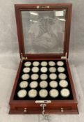 Collection of 25 silver Walking Liberty Half dollars from 1916-1947