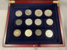 Boxed collection of assorted coins