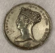Queen Victoria, Visit to the City of London 1837, white metal medal, 61mm diam.