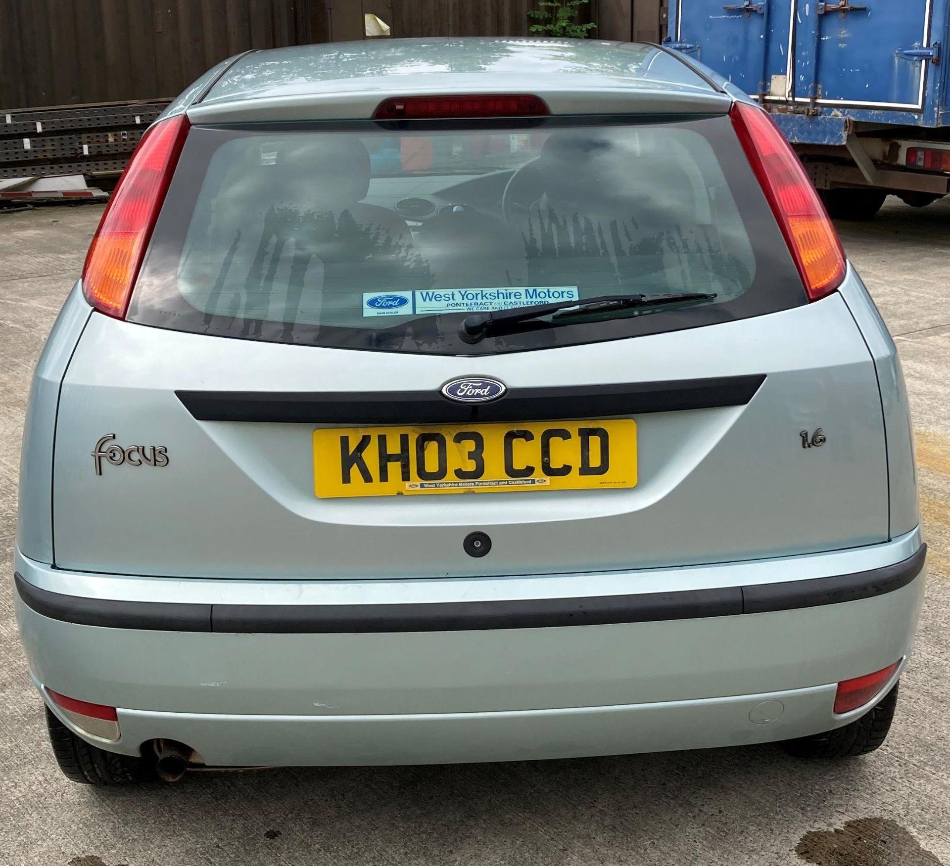 FORD FOCUS ZETEC 1.6 5 door hatchback - petrol - light green Reg No: KH03 CCD Rec. - Image 4 of 4