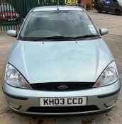 FORD FOCUS ZETEC 1.6 5 door hatchback - petrol - light green Reg No: KH03 CCD Rec.
