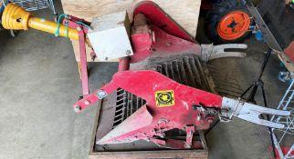 A NIPLO RED METAL POTATO PICKING ATTACHMENT model D-551 serial no.