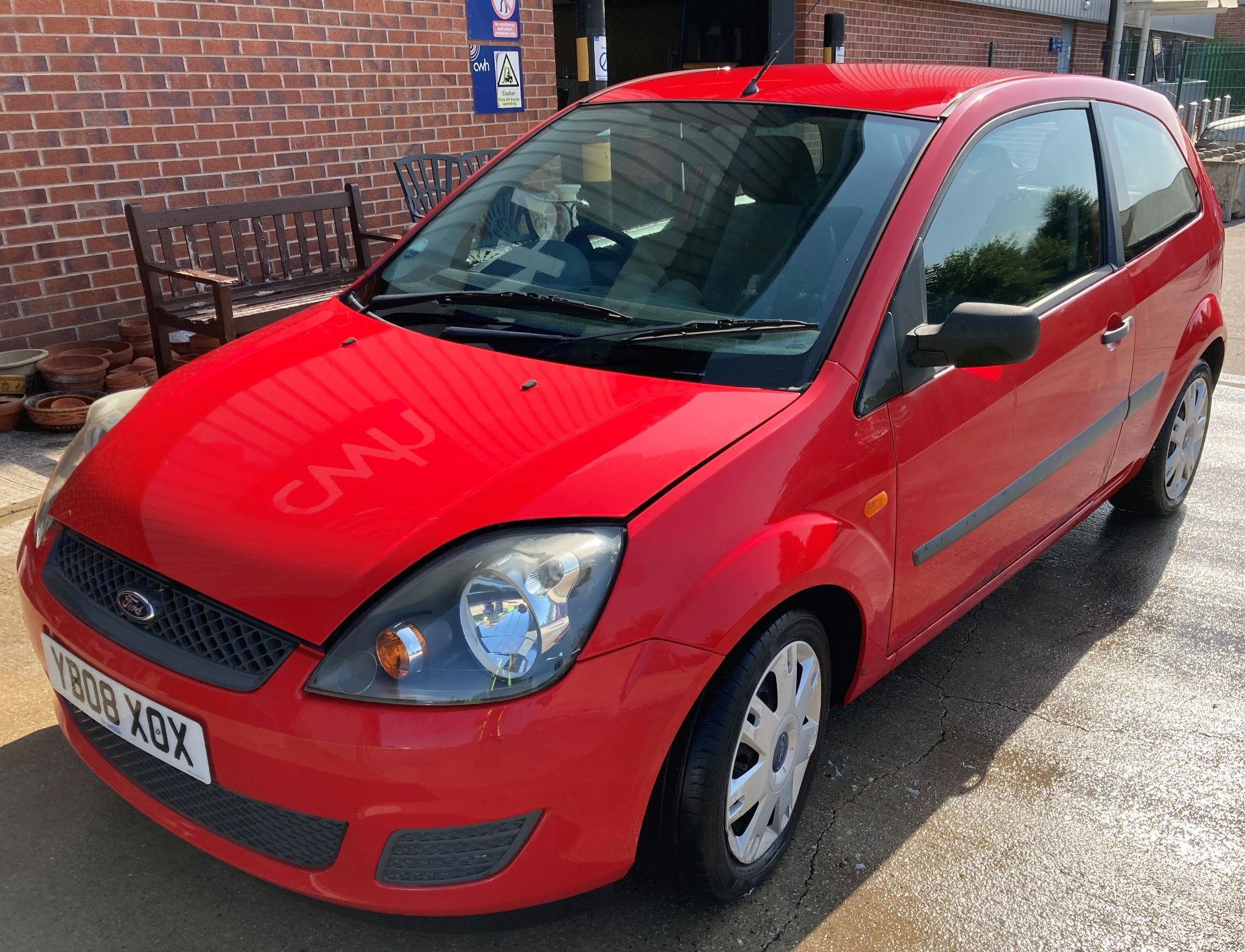 FROM A DECEASED ESTATE FORD FIESTA STYLE 1.2 3 door hatchback - petrol - red Reg No: YB08 XOX Rec. - Image 6 of 10