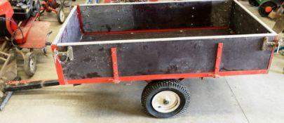 A SAXON single axle trailer model 10T, cap. 12 cu.