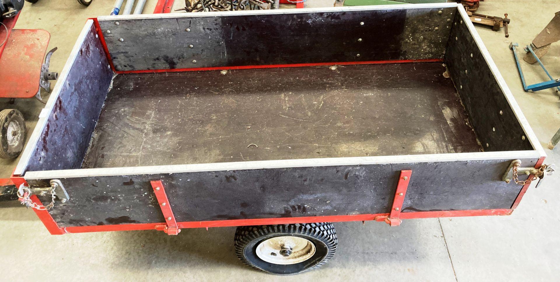 A SAXON single axle trailer model 10T, cap. 12 cu. - Image 2 of 2