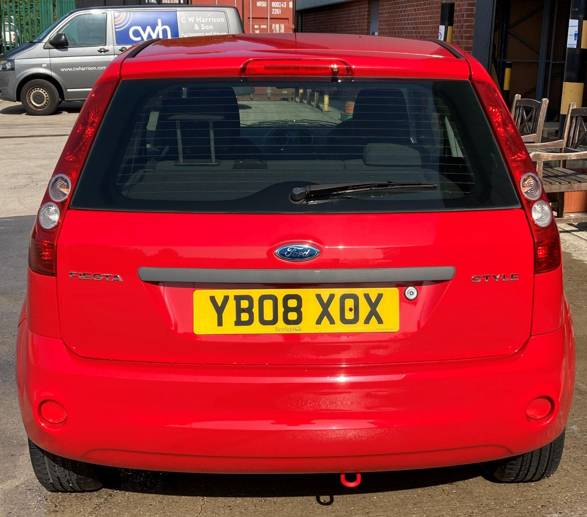 FROM A DECEASED ESTATE FORD FIESTA STYLE 1.2 3 door hatchback - petrol - red Reg No: YB08 XOX Rec. - Image 2 of 10