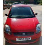 FROM A DECEASED ESTATE FORD FIESTA STYLE 1.2 3 door hatchback - petrol - red Reg No: YB08 XOX Rec.