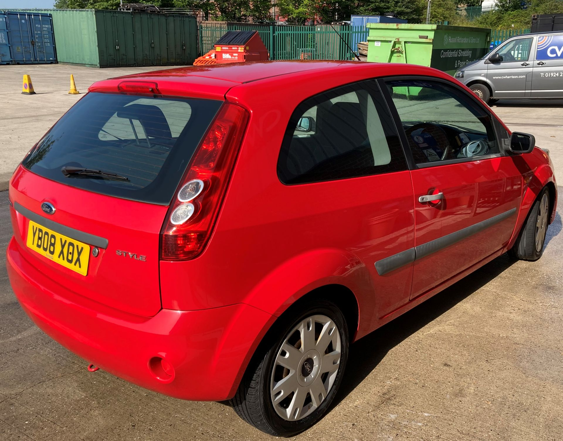 FROM A DECEASED ESTATE FORD FIESTA STYLE 1.2 3 door hatchback - petrol - red Reg No: YB08 XOX Rec. - Image 4 of 10