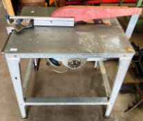 A 3 phase circular saw bench on galvanised table - no lead