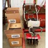 A MANTIS cultivator/tiller with Honda GX25 petrol engine, date of manufacture 05/2013,