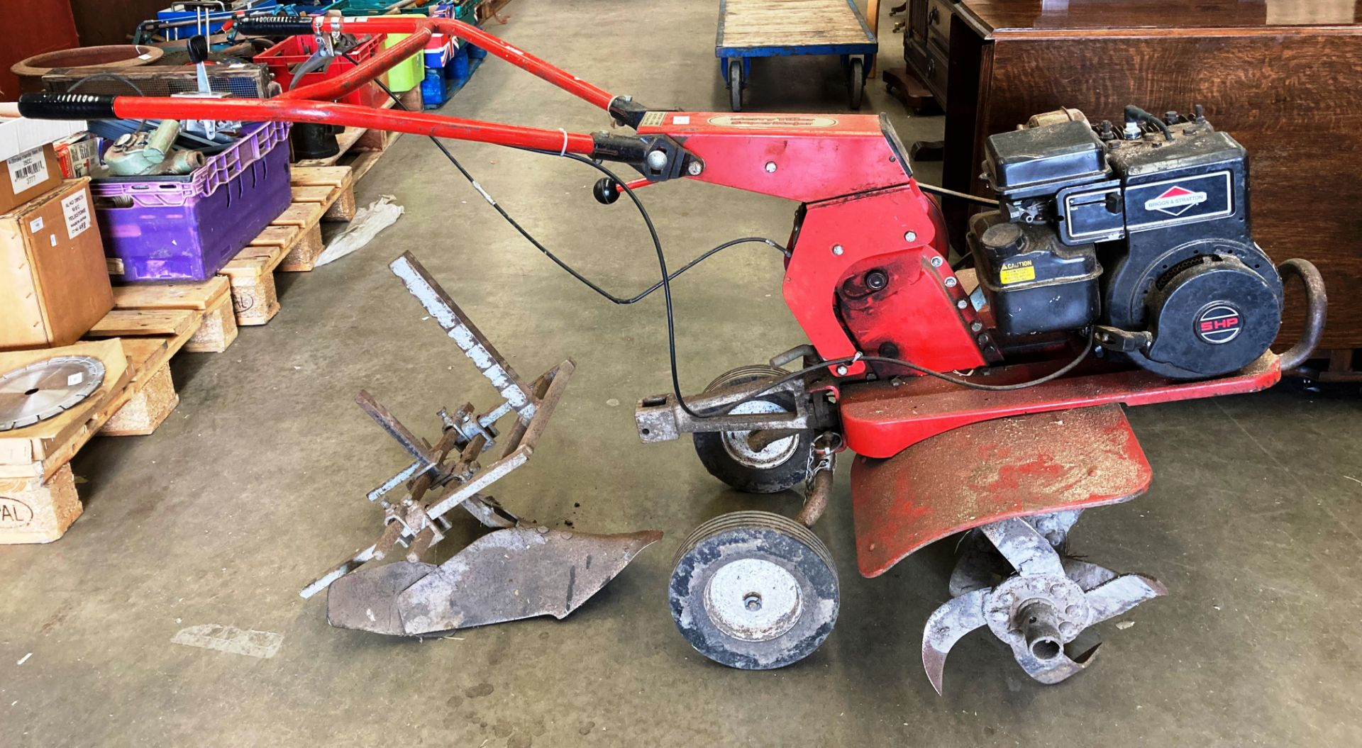 A Wolseley Merry Tiller Super Major Cultivator with Briggs & Stratton 5HP petrol engine and