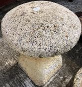 A composition and concrete staddlestone 54cm high