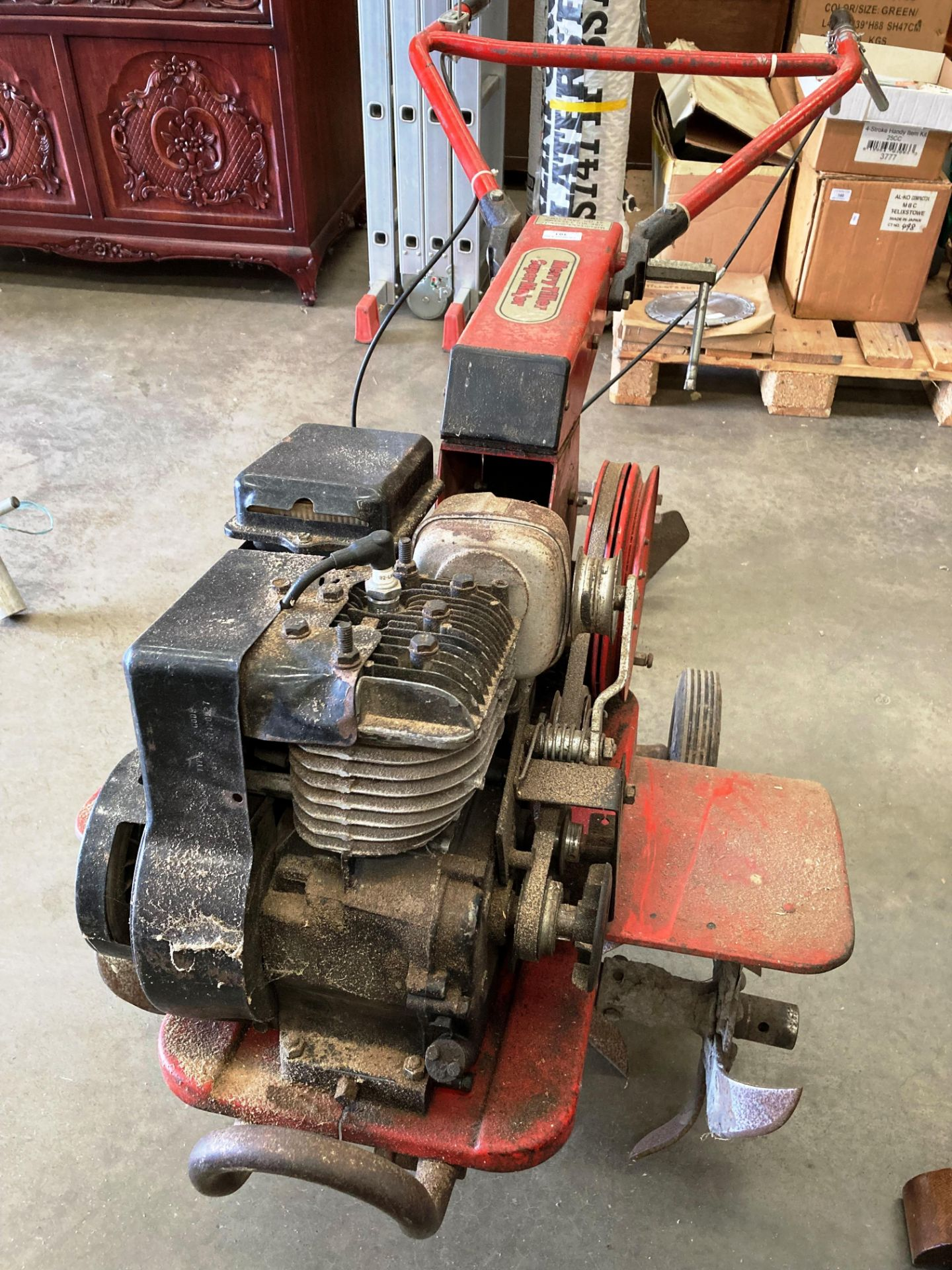 A Wolseley Merry Tiller Super Major Cultivator with Briggs & Stratton 5HP petrol engine and - Image 2 of 2