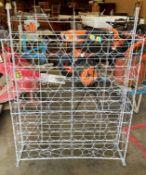 A wirework 110 bottle wine rack
