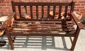 Wood garden bench 128cm long