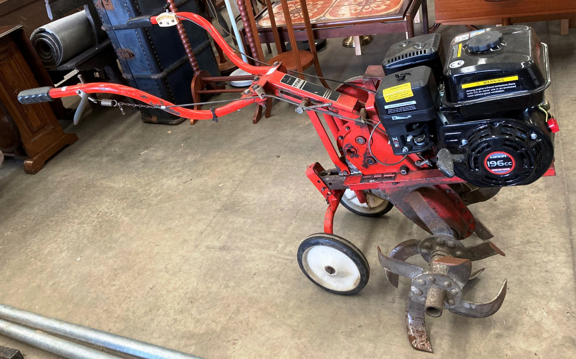 A Wolseley Merry Tiller Titan rotary cultivator patent no: 714394 serial no: T148806 with Loncin - Image 2 of 2
