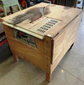 "A Draper BTS 250 2HP 10"" circular bench saw serial no: 002270 in plywood table surround - 240v,"
