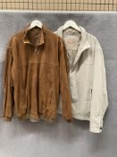 A Marks & Spencer Collezione brown suede jacket,