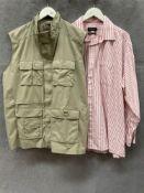 A Mountain Life Outdoor Co beige sleeveless jacket,