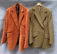 A gentleman's orange corduroy jacket,