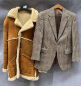 A gentleman's sheepskin coat, no size shown,
