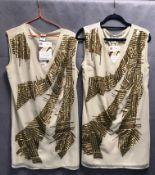 5 x ladies shirt length dresses by Vero Moda, Oui, Superrash, etc.