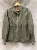 A St Michael's grey leather jacket,