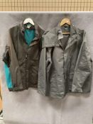 A Cotton Traders turquoise/dark grey outdoor coat,