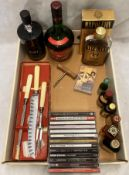 Contents to tray a 50cl bottle of Marks and Spencers Special Reserve Port,