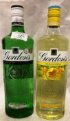 Two 70cl bottles of Gordons Gin (each 37.
