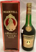 A bottle of Martell V.S.O.