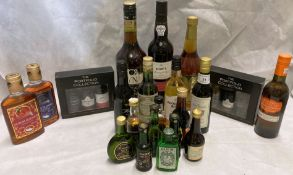 A mixed lot of wines,