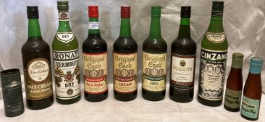 Sixteen x 70cl bottles of Original Cask Rich Ruby, Cream and Dry Sherry,