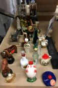 Contents to half of tray 30 novelty miniature assorted spirit and liqueur - Rutherfords blended