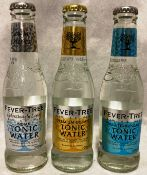 Forty seven x 200ml bottles of Fever Tree tonic water - Mediterranean, Premium Indian etc.