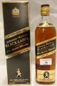 A 75cl bottle of Johnnie Walker Black Label Old Scotch Whisky (40% vol) in presentation box