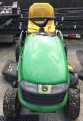 John Deere X120 petrol ride on mower - no keys - sold as spares and repairs