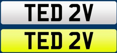 Cherished registration number TED 2V complete with retention document PLEASE NOTE: SUBJECT TO