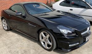 ON INSTRUCTIONS OF A RETAINED CLIENT MERCEDES BENZ SLK 250 AMG SPORT Cdi blue-cy automatic