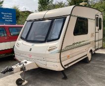 ON INSTRUCTIONS OF A RETAINED CLIENT AN ABBEY GTS VOGUE 212 TWO BERTH CARAVAN - white Serial No:
