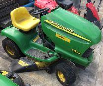 John Deere LT166 ride on petrol mower - no keys - sold as spares and repairs